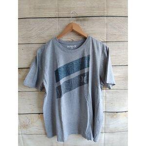 🇺🇸 5/$20 Hurley gray/blue Short Sleeve Shirt L